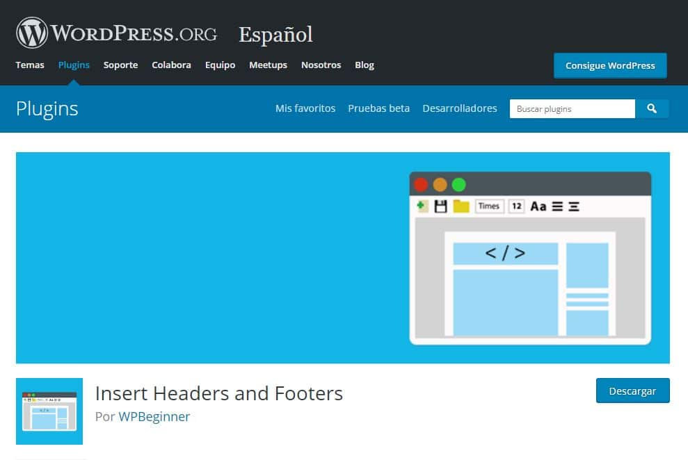 wordpress headers and footers
